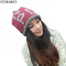 Cuhakci caliente gorros unisex lana sombrero impresión carta sombrero de  invierno para las mujeres hombres vino rojo gris negro . 5fc65ee5dd5