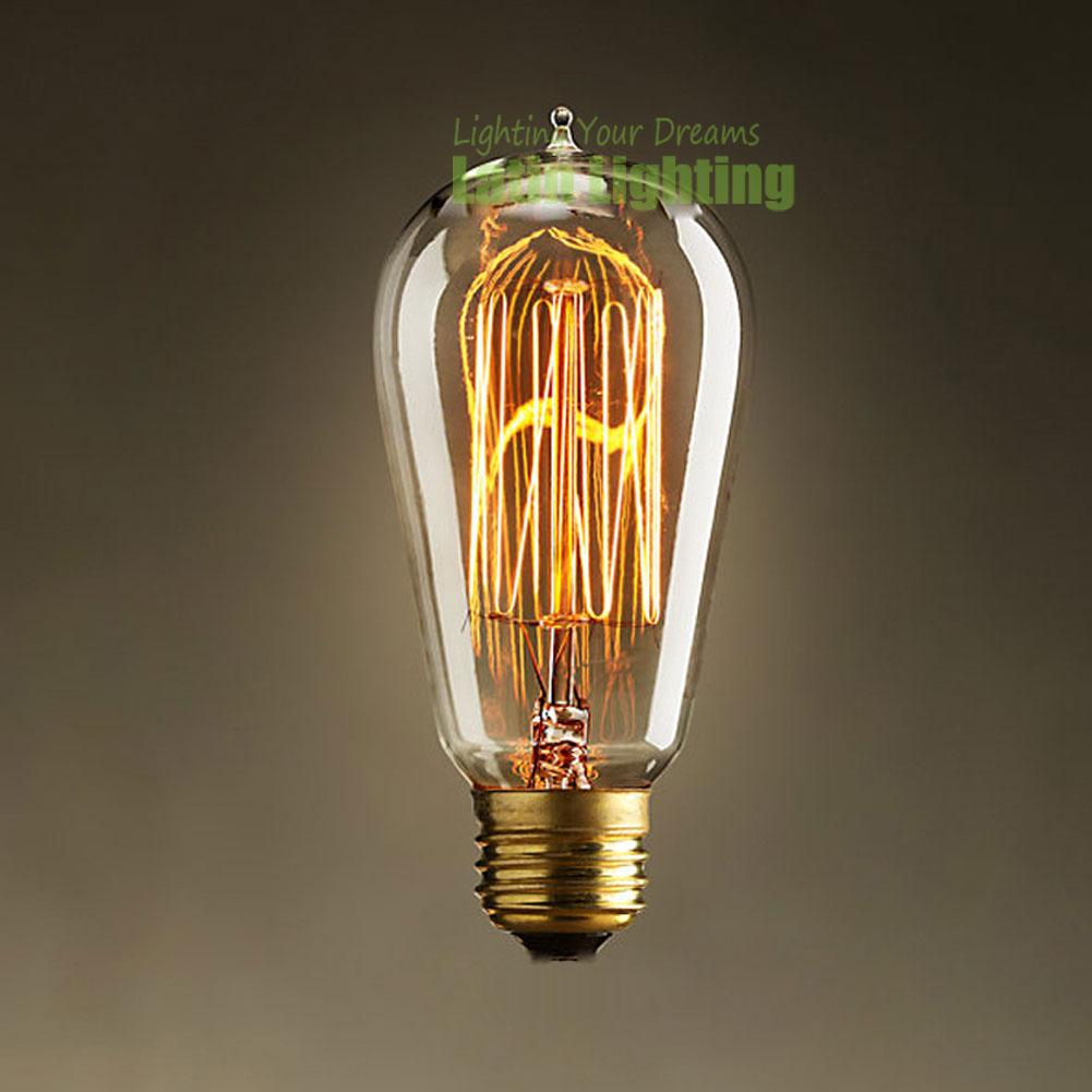 40w Vintage Retro Filament Edison Tungsten Light Bulb: Hot 40W 220V E27 Filament Edison Bulbs Incandescent Lamp