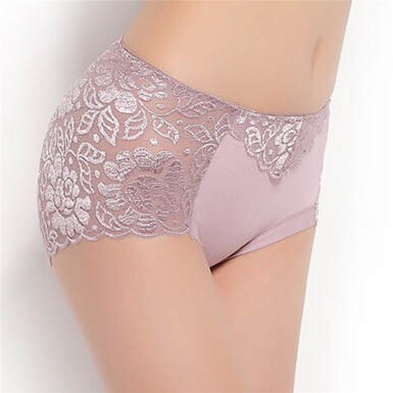Femme Knickers Soft Transparent Cueca Briefs Women Underwear <font><b>Sexy</b></font> Panties Lace Woman Crotchless <font><b>Culotte</b></font> M/L/XL/XXL/<font><b>XXXL</b></font> image