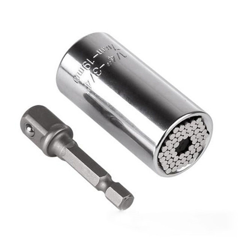 Torque Wrench Universal Sleeve Head Set Magic Socket Sleeve 7-19mm Spanner Key Gator Grip Multi Hand Tools Cr-v Material