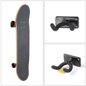 Image 5 - Longboard Montaggio A Parete di Skateboard Chitarra Display Dellorganizzatore del Gancio Staffa A Parete Gancio Appendere Verticalmente Heavy Duty e facile da Installare
