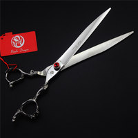 8.0 inch Professional Pet Dog Grooming Scissors Purple Dragon 440C High Quality Dog Hair Cutting Shears Straight Styling Tools