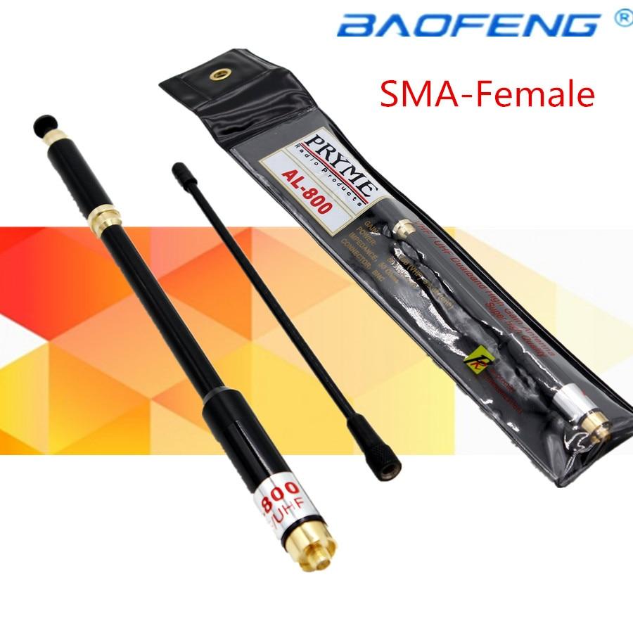 UHF VHF Telescopic Dual Band Antenna AL800 SMA Female for Wouxun KG-UV1D Radio