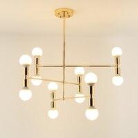 Gold Metal Body Chandelier Modern Light Fixtures For Dining Room Living Room Chandelier Lighting Lustre Lamparas