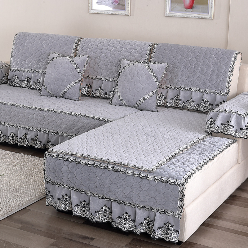 Waterproof Quilted Sofa Covers Lace Embroidered Luxury Sofa Skirt Suitable  For Living Room Sofa Decoration A Variety Of Styles In Sofa Cover From Home  ...