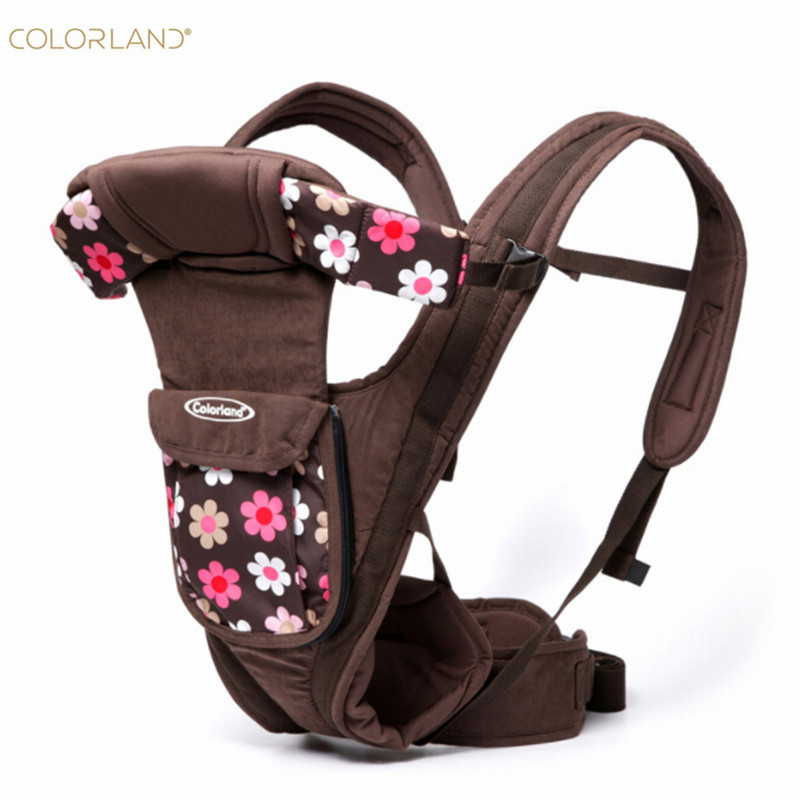 Colorland Baby Carrier with Three-dimensional Surround Protection Caps Soft Comfortable Adjustable Detachable Backpack babyhelp comfortable breatheable cotton baby soft carrier
