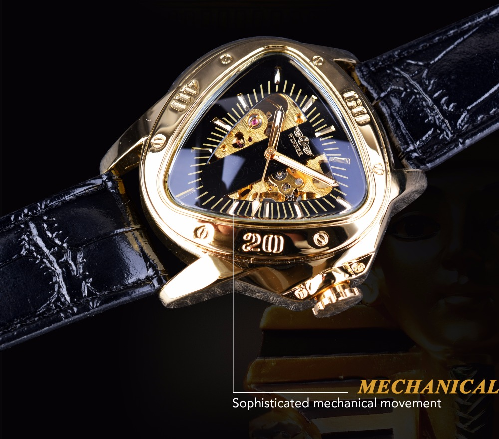 HTB1nUhqh nI8KJjSszbq6z4KFXar Winner Steampunk Fashion Triangle Golden Skeleton Movement Mysterious Men Automatic Mechanical Wrist Watches Top Brand Luxury