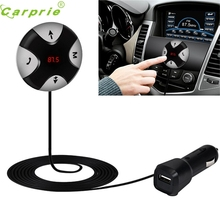 Hot hothot Handsfree Wireless Bluetooth 4.0 FM Receiver 3.5mm TF Car Kit Mp3 Player AUX jr17