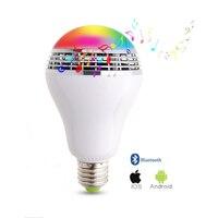 Dimbare E27 10 W RGB LED Lamp Bluetooth Verlichting Lamp Kleur Verstelbare Speaker Muziek Lichten Lamp Met RF 24key Afstandsbediening controle