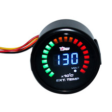Universal 12V 2Inch 52mm Digital LED Auto Car EGT Exhaust Gas Temperature Gauge Meter 0 - 1300 With Warning Light(China)