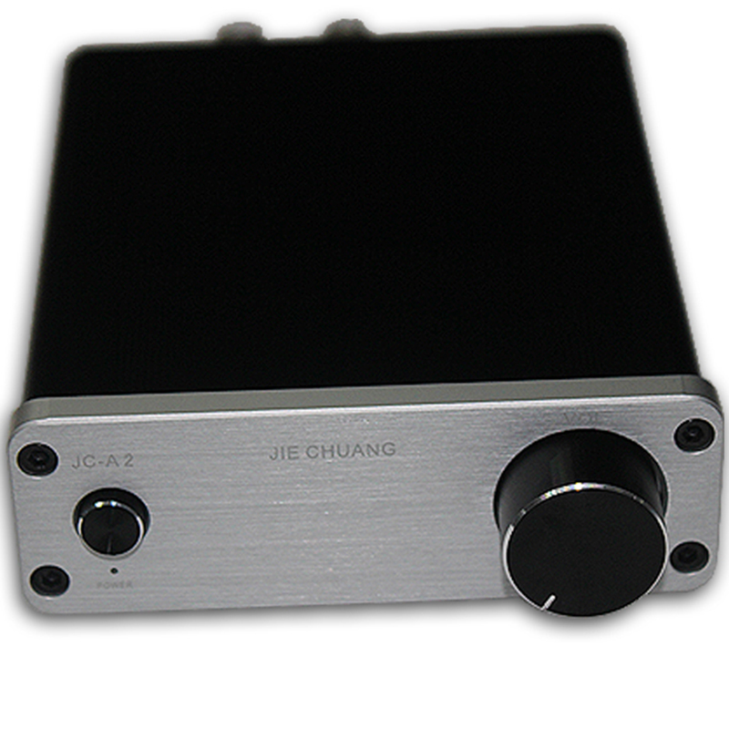 ФОТО New JIE CHUANG JC-A2 Desktop Mini Class B Amplifier Hifi mini Amp With Power Supply Home amplificador Black/Silver/Gold