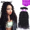 Alibarbara Peruvian Virgin Hair curly 8A Peruvian curly hair weave 3pcs/lot  #1b free shipping curly peruvian hair bundles Sale