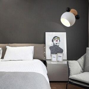 Image 4 - Настенный светильник E27 в скандинавском стиле, оригинальный креативный мультяшный настенный светильник для детей, для чтения, прикроватный светильник для спальни