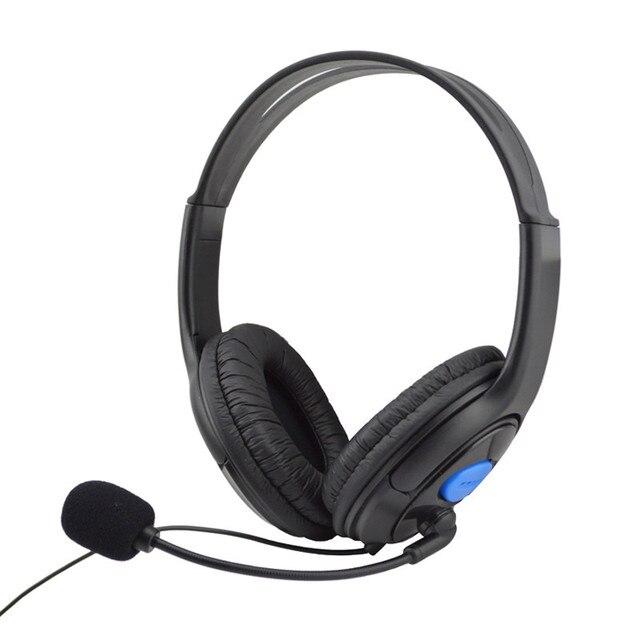 cc2e83ae9d3 Atacado Wired Gaming Headset Headphones auriculares Desgastando Confortável  Com Microfone Para Sony PS4 Jogo para PC