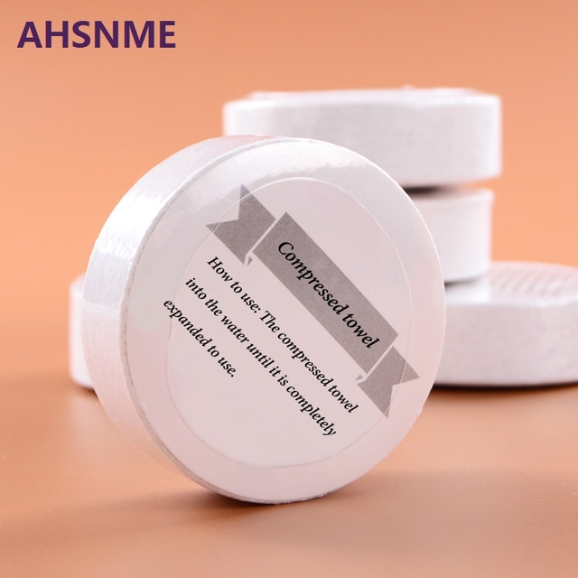 AHSNME 1pcs large Compressed towel (30 * 65cm / 14 * 26inch) independent travel disposable towel 100% cotton towel