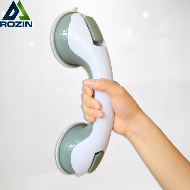 Anti Slip Bathroom Handle Grab Bar Toilet Safety Helping Handle Support Vacuum Suction Cup Handrail Wall Mounted Sucker Grip Bar