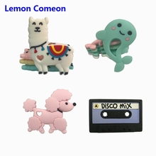 Lemon Comeon 5PCS Sheep Silicone Teethers Lovely BPA Free Dog Dolphin Baby Teether Rabbit DIY Teething Necklace Infant Chew Toys
