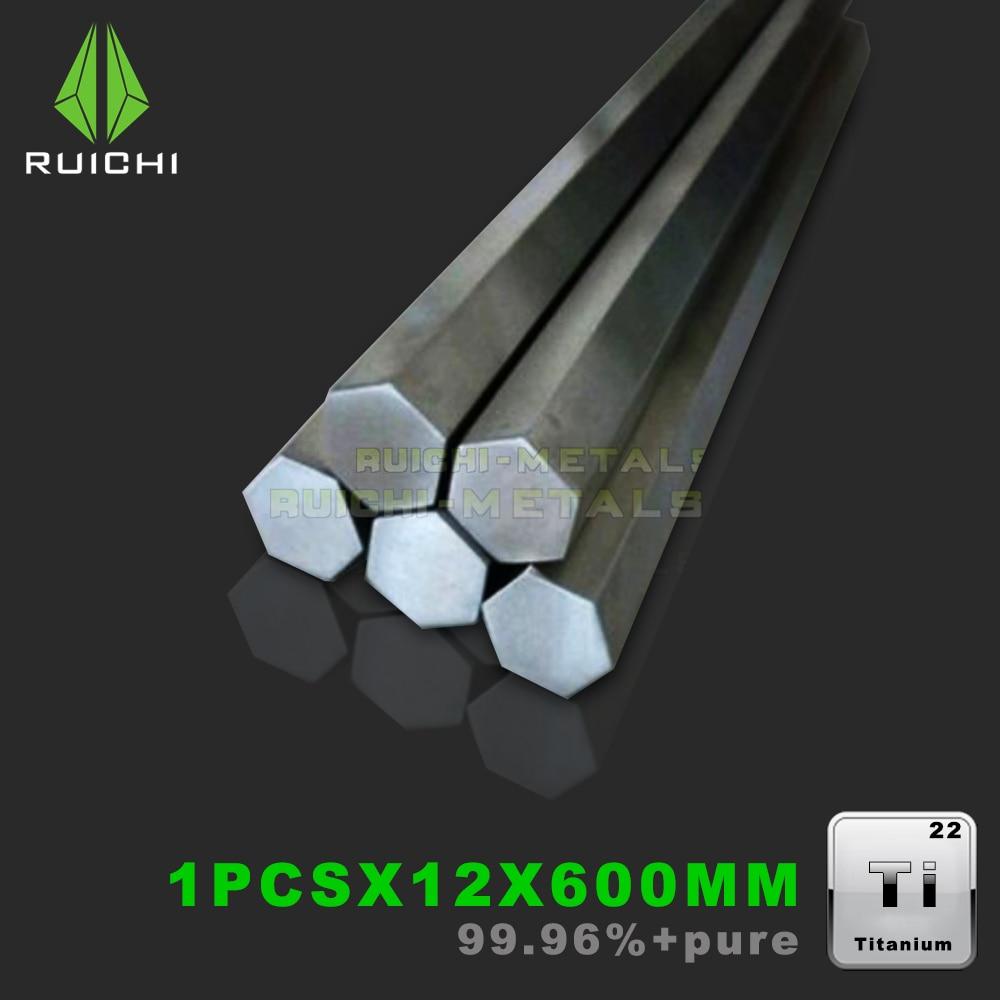 Titanium Hexagonal bar 12x12mm dia x 60cm Length Ti Metals GR2 Free ShippingTitanium Hexagonal bar 12x12mm dia x 60cm Length Ti Metals GR2 Free Shipping