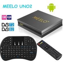 Горячие продажи Meelo UNO2 quad core Android TV Box 1 ГБ 8 ГБ DVB-S2/T2 поддержка Питания VU и Biss и Cccam Smart Media плеер