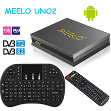 Hot-sale Meelo UNO2 quad core Android TV Box 1GB 8GB DVB-S2/T2 support Power VU & Biss & Cccam Smart Media Player