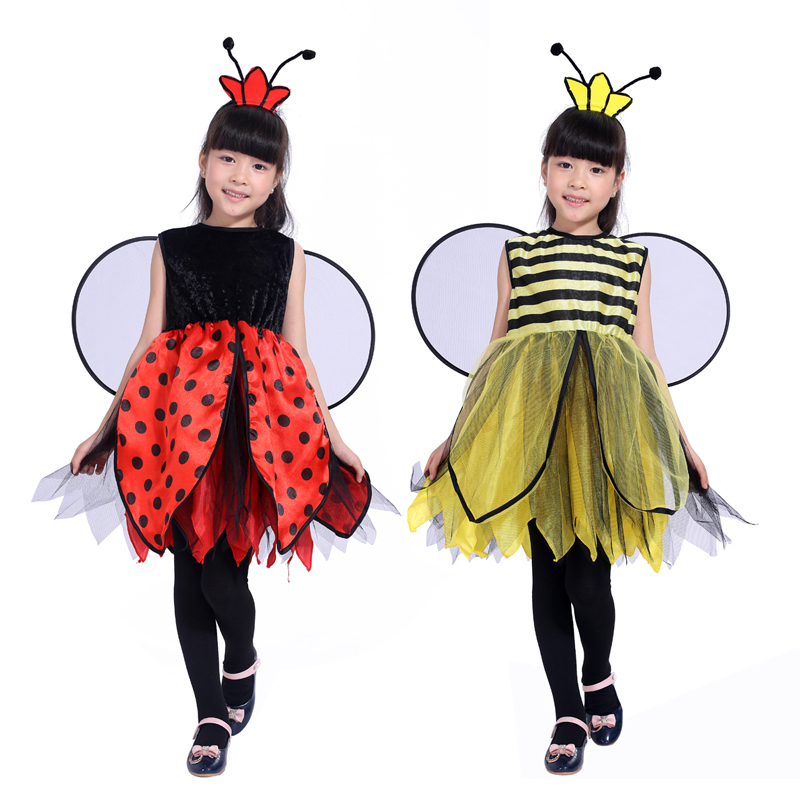 new free shipping childrenu0027s masquerade party Bee costume for girls Bee ladybug Halloween costume Pretty-in Girls Costumes from Novelty u0026 Special Use on ...  sc 1 st  AliExpress.com & new free shipping childrenu0027s masquerade party Bee costume for girls ...