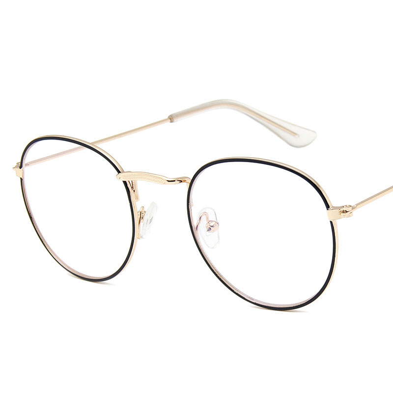 2019 Latest Model Metal Vintage Pattern Man And Women Glasses Round Frame Metal Frame UV Famous Design Pink Light Weight