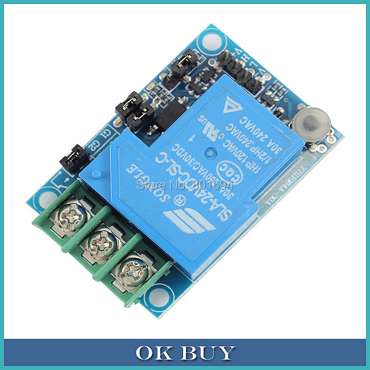 10Pcs/Lot 1-Channel Multifunction Relay Module 30A DC5V / 12V / 24V Selectable TTL Level High / Low Triggering Options