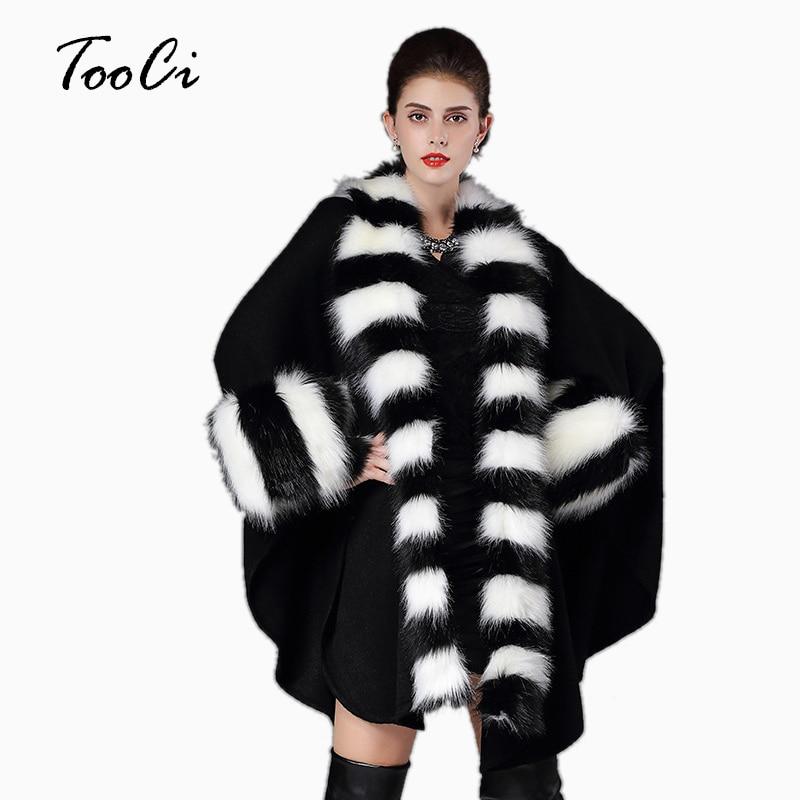 Új divat őszi téli hamis szőrme kabát meleg nők fekete laza - Női ruházat