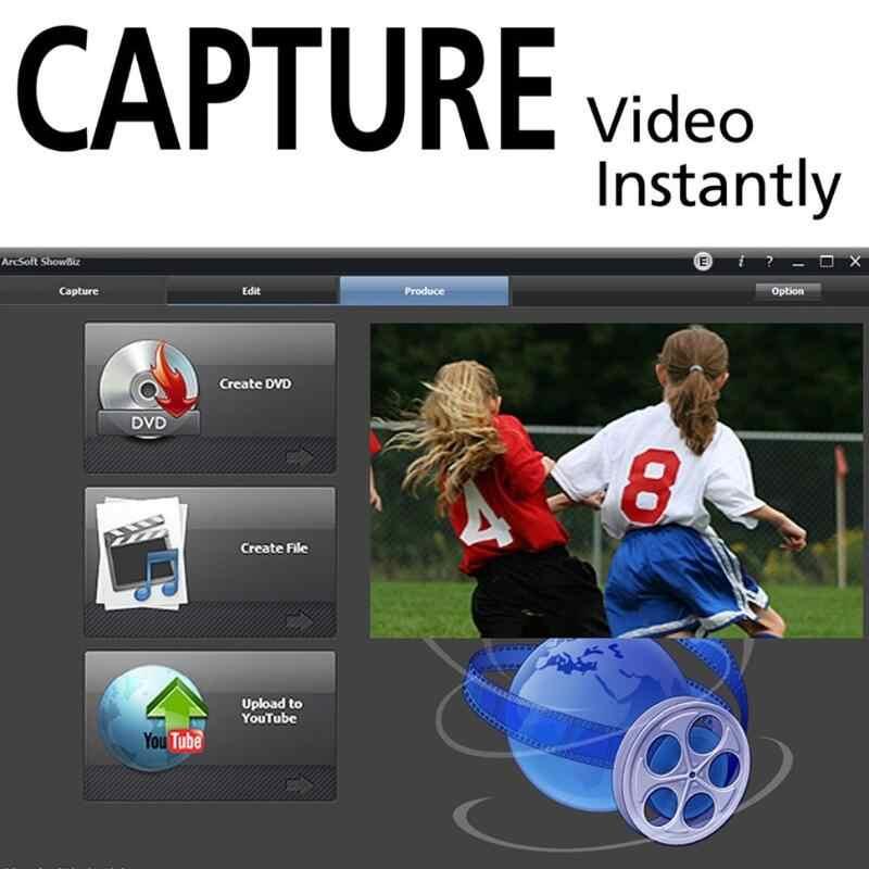 2018 Easycap USB 2,0 fácil tapa Video TV DVD VHS DVR adaptador de captura más fácil tapa USB dispositivo de captura de vídeo soporte win10