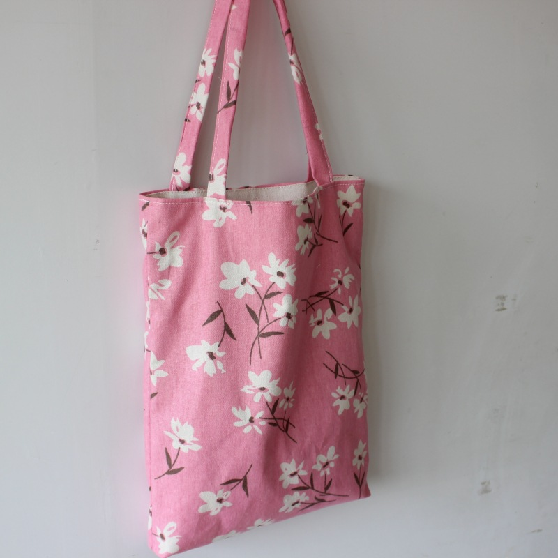 Brand New Handmade Cotton Linen Shopping Bag Carrying Tote Print Pink Summer Flower D04 system of wheat intensification swi new trend of wheat cultivation
