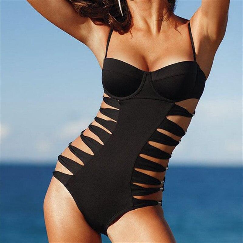 Summer Sexy Bikini Women Swimwear Strip Care with Chest Pad Swimsuit Plavky Plavky Beachwear Support Drop shipping