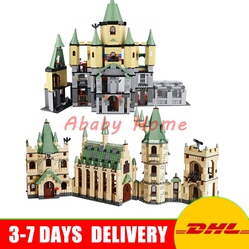 DHL Lepin 16029+16030 The Creative Movies Hogwarts Castle Sets Educational Building Blocks Bricks Model Toys Clone 4842 5378 china brand 16029 educational bricks toys diy building blocks compatible with lego hogwarts castle 5378