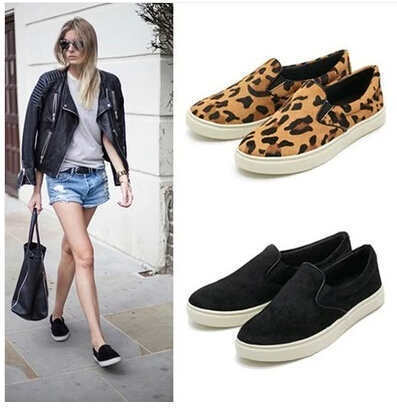 76afa2ecddd horse hair leopard print single shoes female comfortable casual maternity  espadrilles flats sneakers women platform shoes TDX357