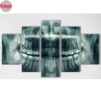 5pcs set Diamond Embroidery 5D DIY Diamond Painting Abstract Art dental X ray Picture Mosaic Resin Drill Home Decoration Kits