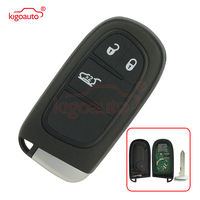 Kigoauto smart car key for Dodge chrysler Jeep cherokee 2014 2015 2016 2017 keyless entry GQ4 54T 3 button 433mhz car remote key