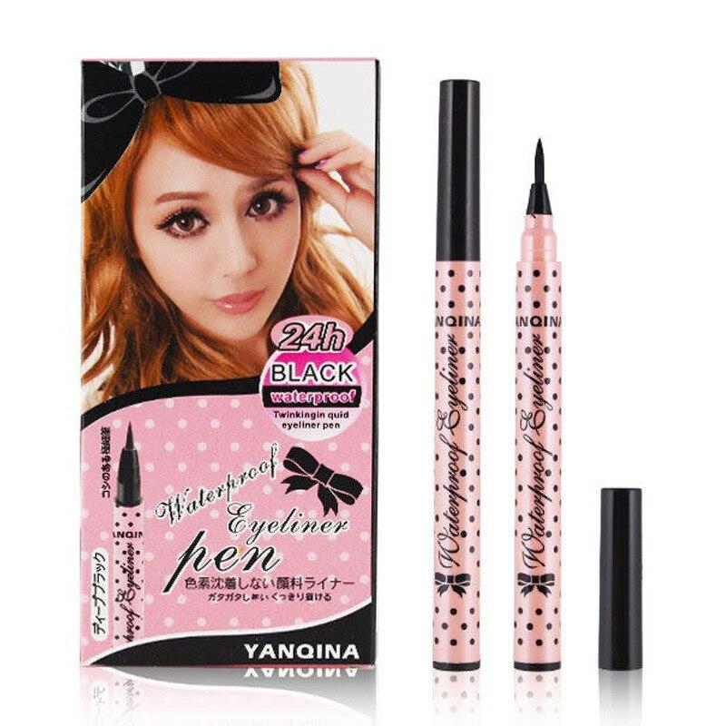 Beauty Black Waterproof Eyeliner Liquid Eye Liner Pen Pencil Makeup Cosmetic Makeup Waterproof Liquid Eyeliner Pencil in Eye Shadow Liner Combination from Beauty Health