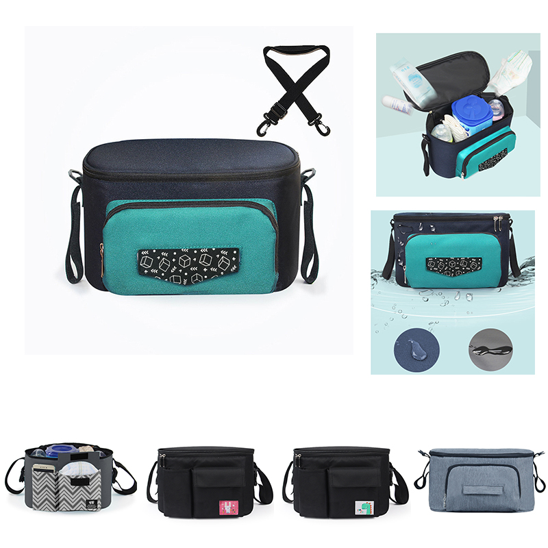 Baby Stroller Bag Organizer Nappy Diaper Bag Waterproof Mommy Maternity Bag For Baby Hanging Carriage Pram Buggy Cart Bottle Bag