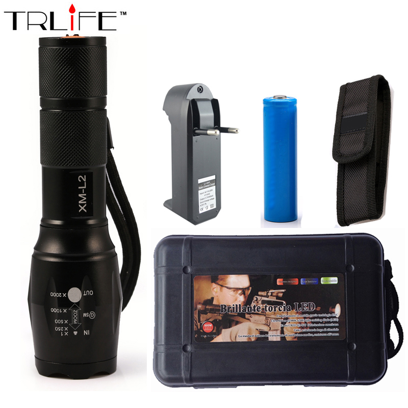 Lanterna CREE XM-L2 6000LM Tactical Flashlight Torch Zoomable LED Flashlight for 3xAAA or 1x 18650 Rechargeable Battery