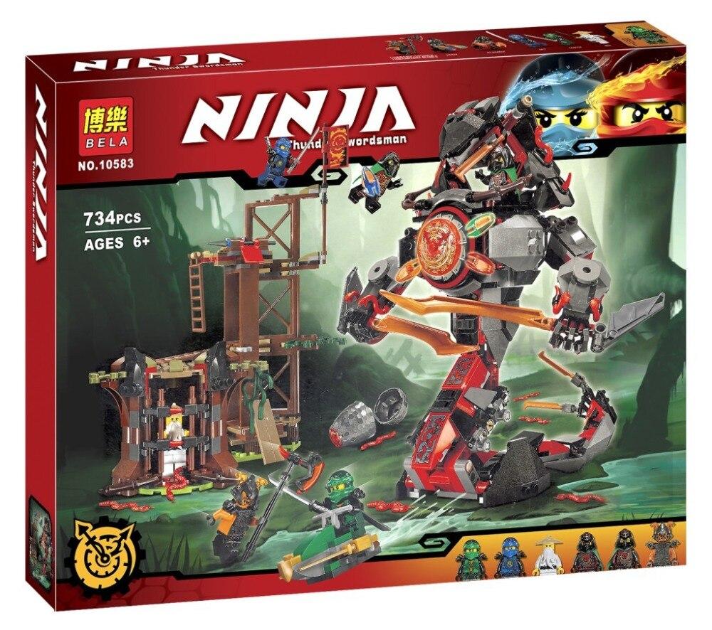 734 unids ninja nueva 10583 doom amanecer de hierro diy modelo kit de construccion bloques juguetes juego compatible