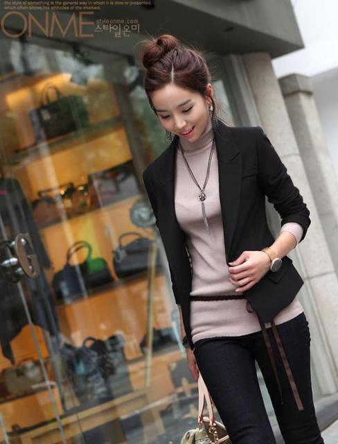 Black blazer Ladies Work Wear Coat jacket 1