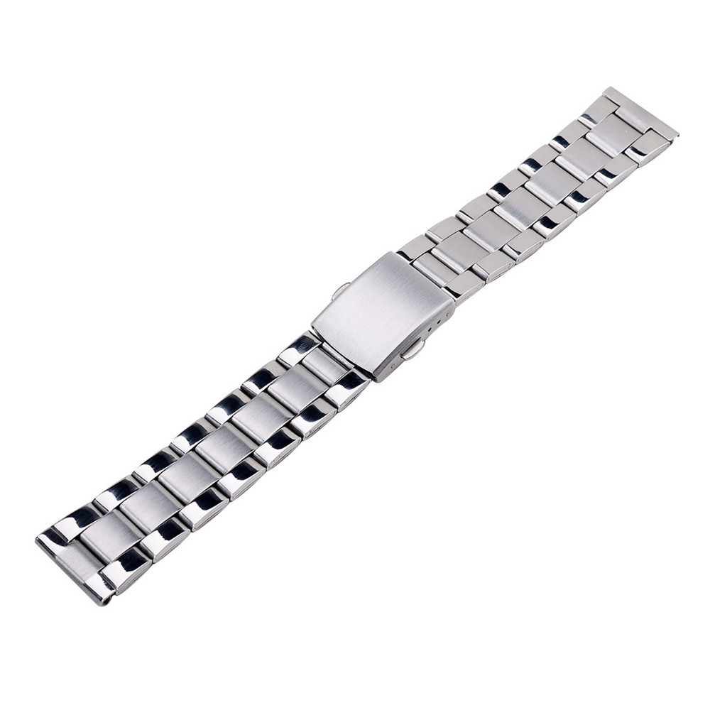 High Quality Stainless Steel Watch Band Strap Double Flip Lock Buckle Solid Links Wrist Watch Band 18mm 20mm 22mm,Free Shipping wholesale price high quality fashion high quality stainless steel watch band straps bracelet watchband for fitbit charge 2 watch