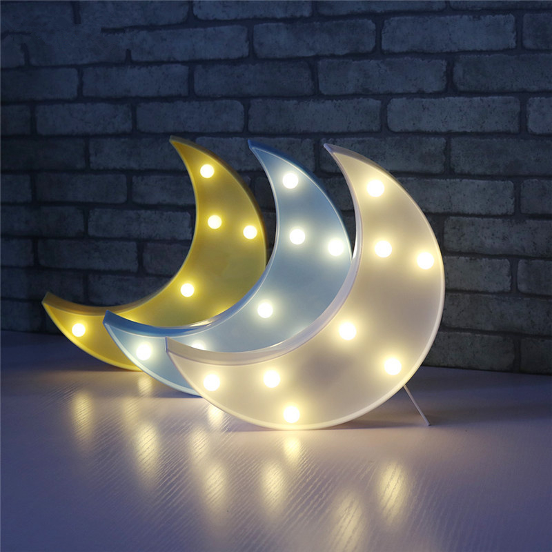 Novel Cloud Star Moon LED 3D Light Night Light Kids Gift Toy For Baby Children Bedroom Tolilet Lamp Decoration Indoor Lighting