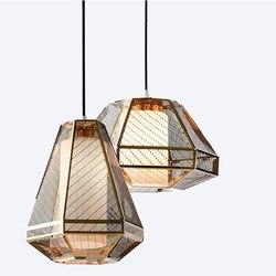 Spersonalizowane przemysłowe wiatr szkło  metal kolor zachodnia restauracja stół  bar  siatka ze stali nierdzewnej żyrandol.|Wiszące lampki|   -