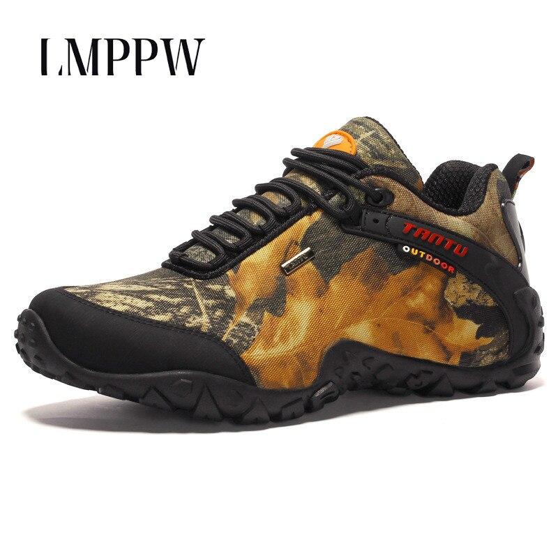 Nouveau 2019 chaussures de randonnée pour hommes baskets de plein air respirant Camouflage bottes de Combat haute qualité hommes offre spéciale mocassins chaussures 2A