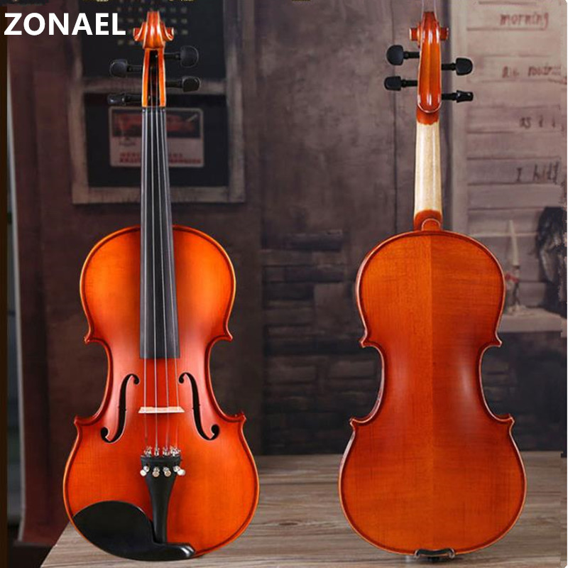 ZONAEL Manual wood adult violin beginners practice the violin introduction Maple Picea A V007