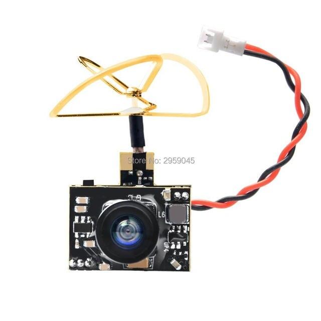 AKK A2 5.8Ghz 40CH 200mW FPV Transmitter Raceband 600TVL 1/4 Cmos Mini FPV Micro AIO Camera with Clover Antenna for FPV Drone