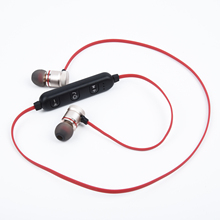 Sports Wireless Earphone Microphone Bluetooth Button Control Gym Earpiece Magnetic