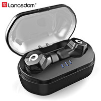 Langsdom Wireless Bluetooth 5.0 Headphone Earbuds IPX7 Waterproof In Ear Earphones with Mic Touch Control Headset For Phone
