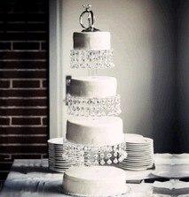 3 층 투명한 크리스탈 케이크 스탠드, 결혼 기념일 생일 파티 모델, 무료 배송