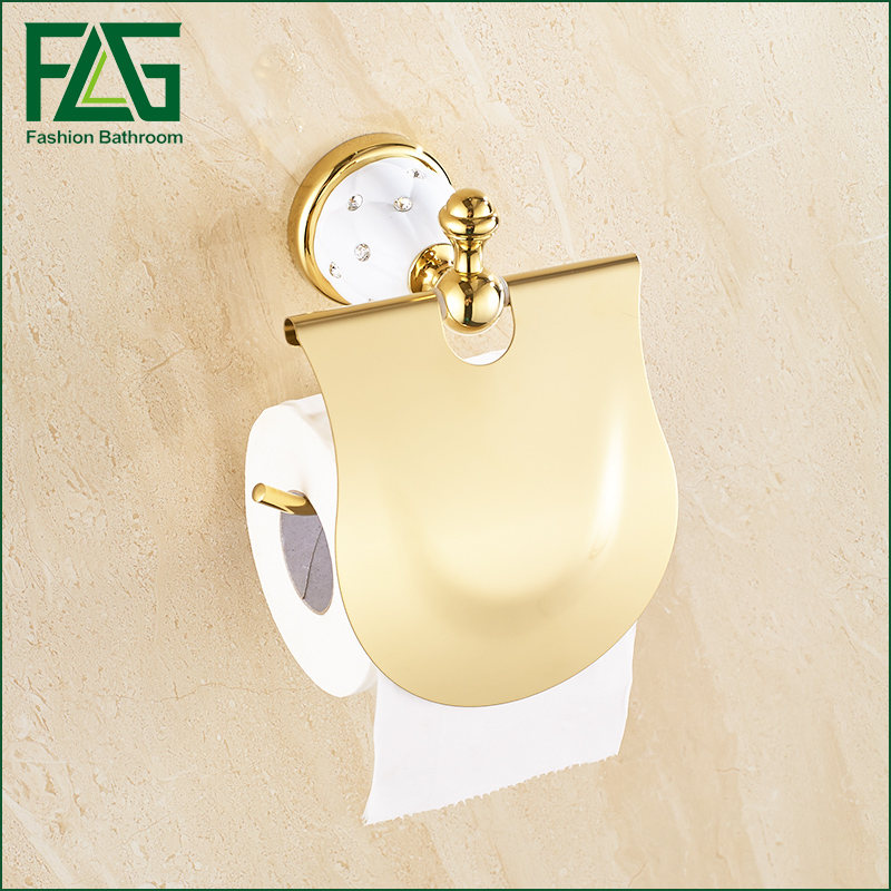 Luxury Brass Gold Toilet Paper Box Roll Holder Bathroom Accessories Bath Hardware Crystal  Metal Paper Holder luxury brass gold toilet paper box roll holder bathroom accessories bath hardware crystal metal paper holder